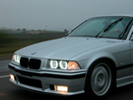 BMW angel eyes, BMW demon eyes in an E36 M3